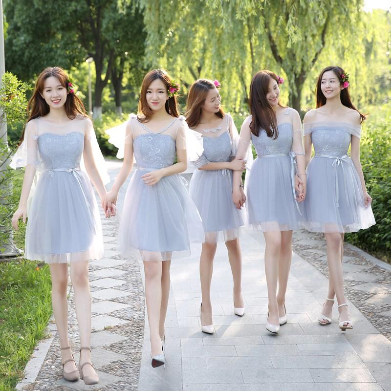 Mẫu váy phù dâu ngắn