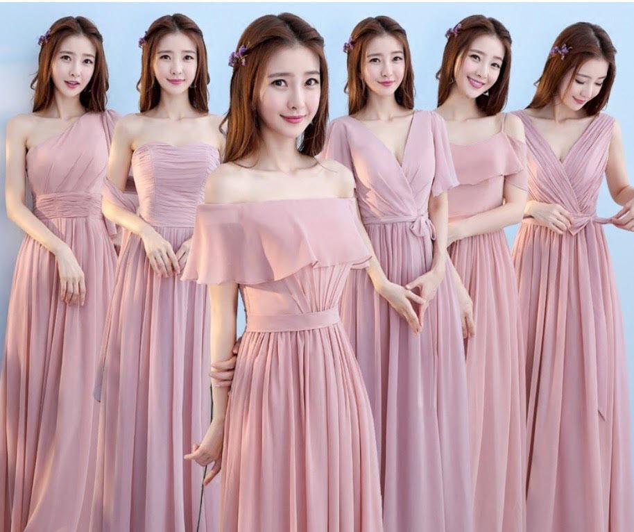 Mẫu váy phù dâu nhẹ nhàng đẹp nhất