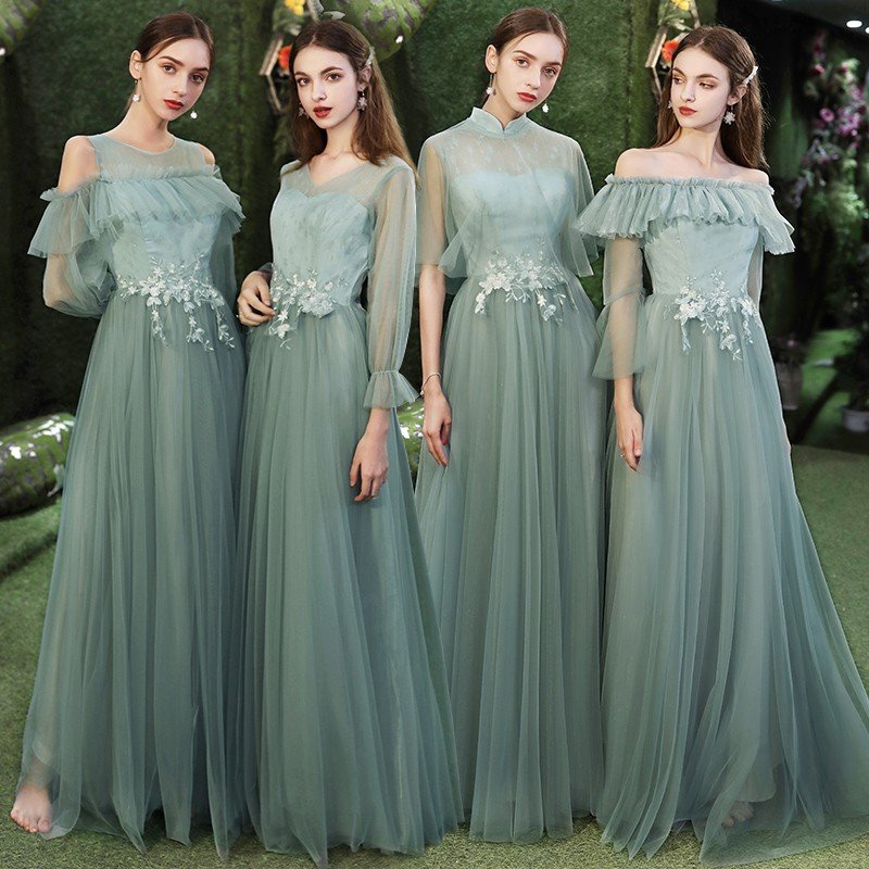Mẫu váy phù dâu nhẹ nhàng quyến rũ