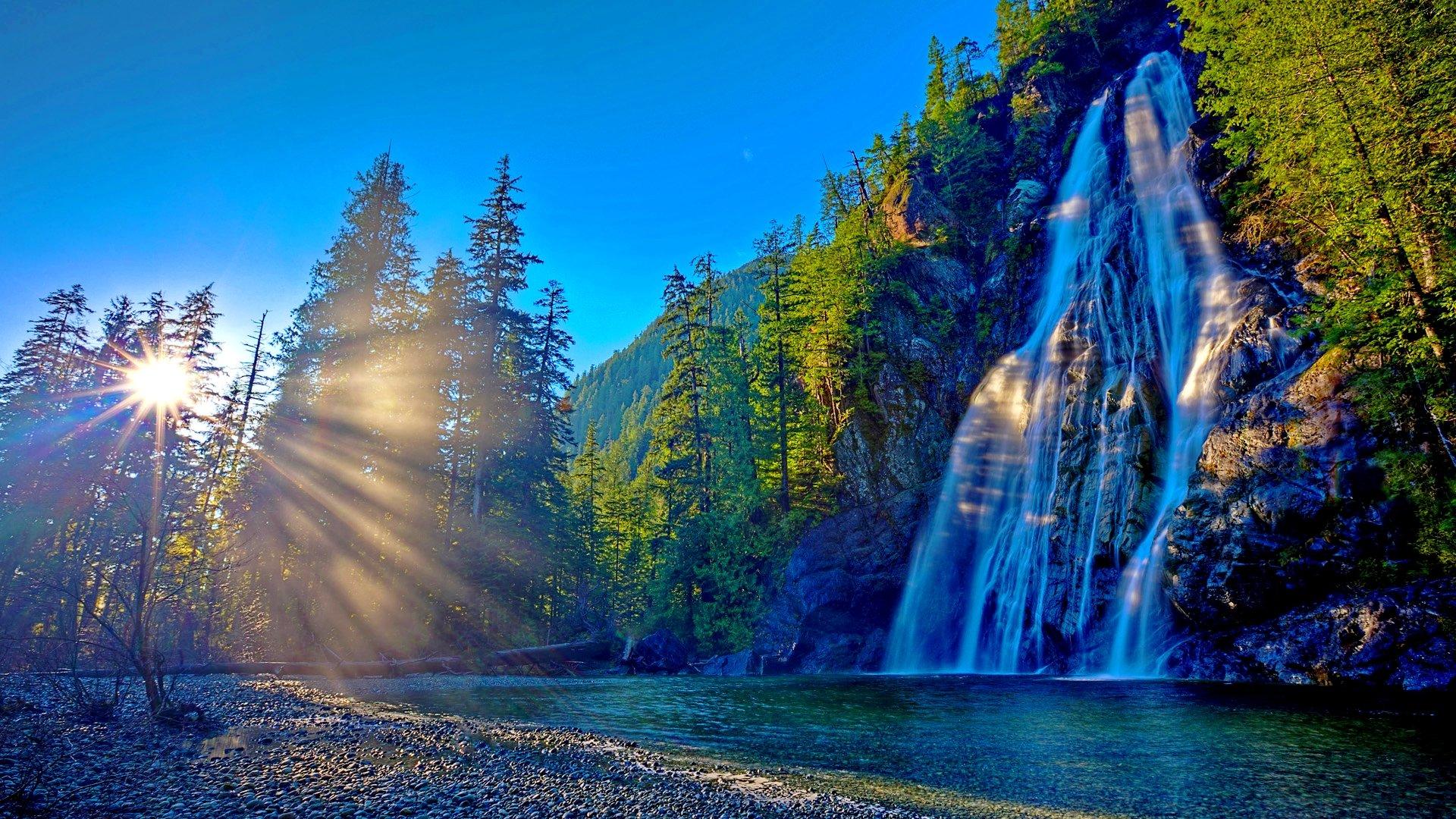 Waterfall wallpaper Full HD