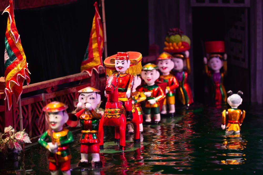 Ảnh nghệ thuật múa rối nước Việt Nam
