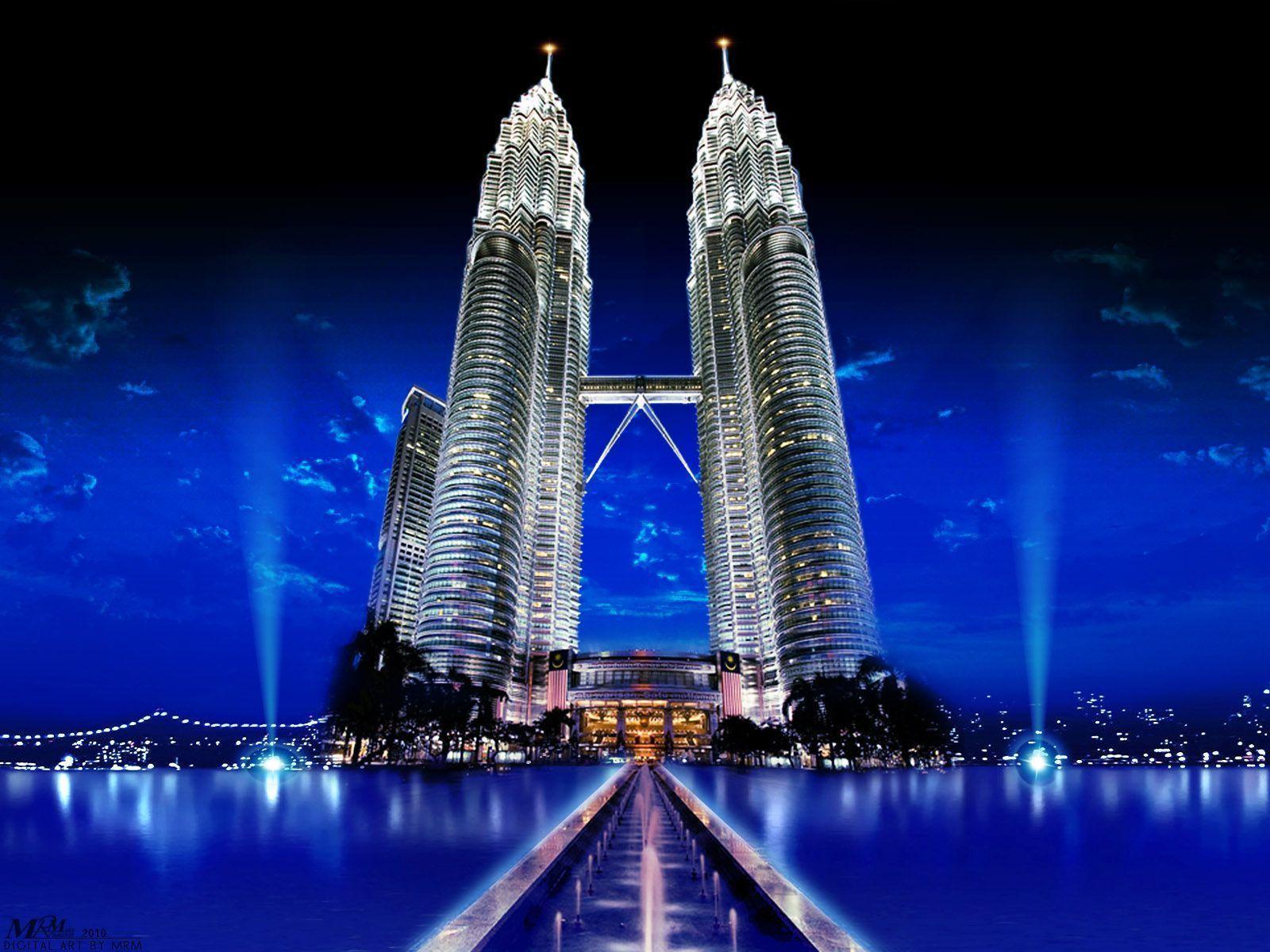 Ảnh tháp đôi Malaysia đẹp nhất về đêm