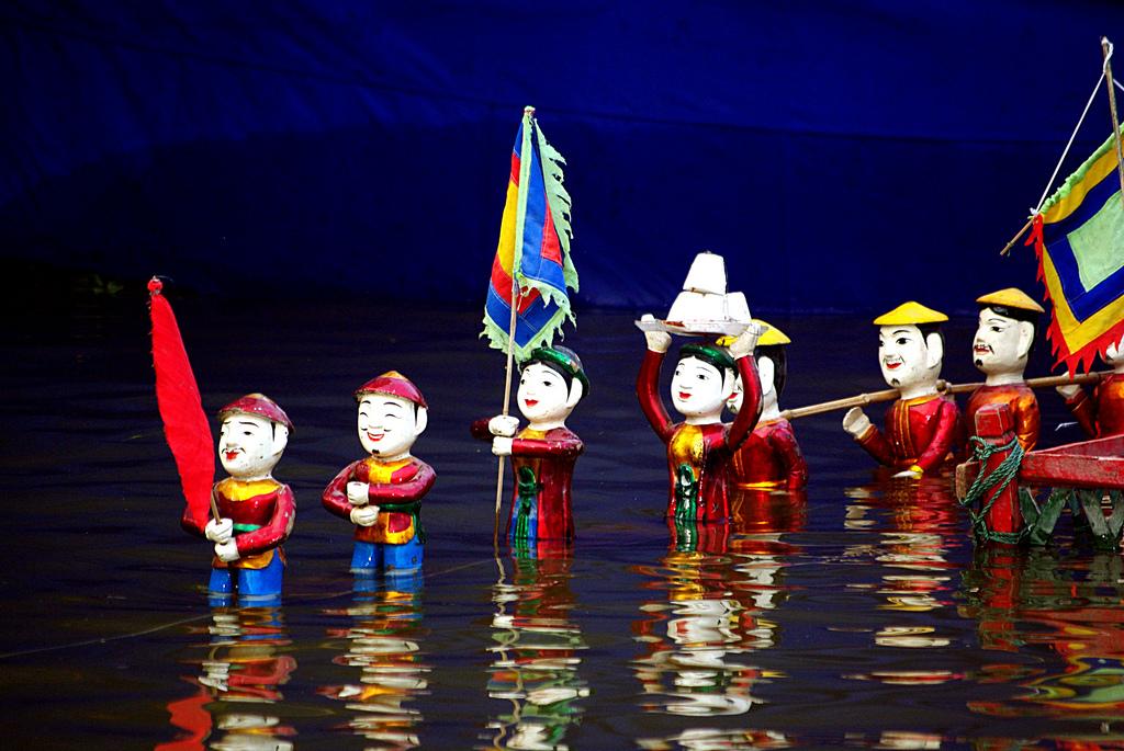 Hình ảnh đẹp về nghệ thuật múa rối nước