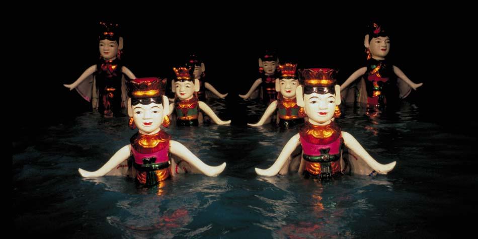 Hình ảnh múa rối nước đẹp và hấp dẫn