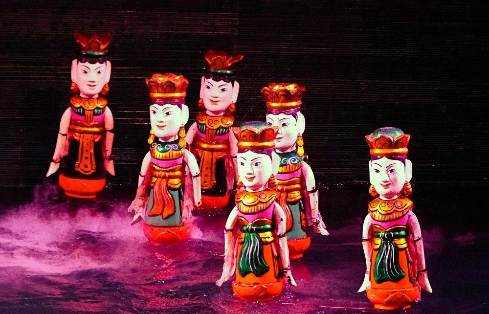 Hình ảnh múa rối nước tại Hà Nội đẹp