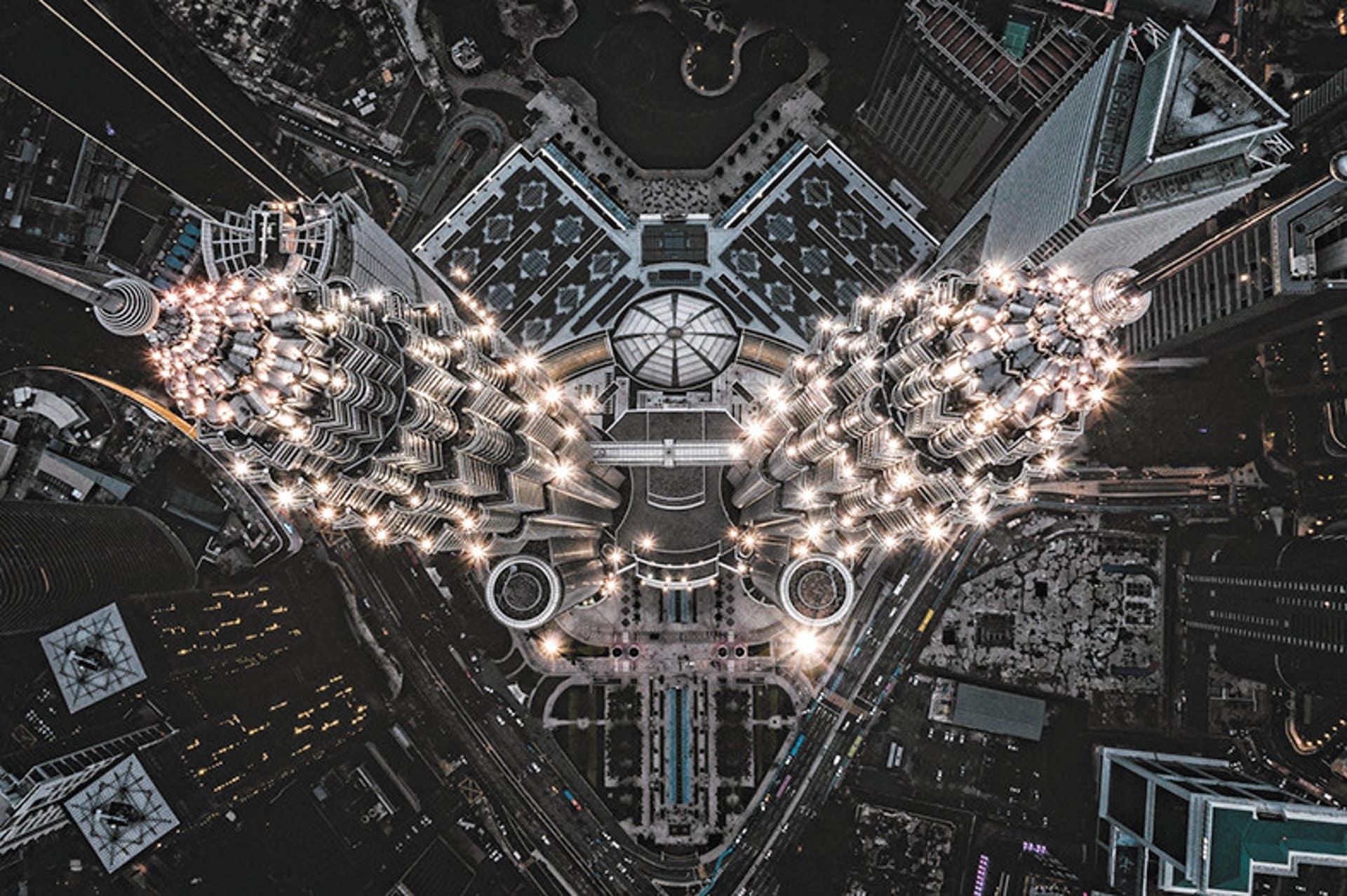 Hình ảnh tháp đôi Malaysia nhìn từ trên cao xuống đẹp nhất