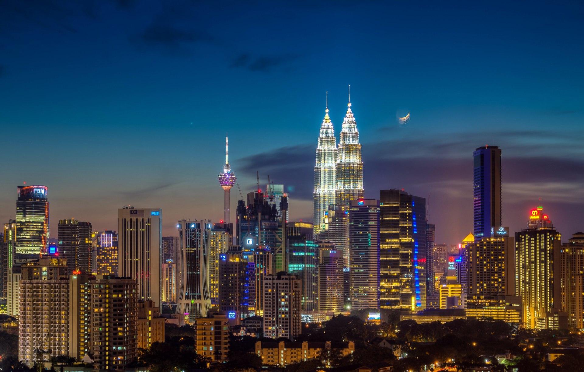 Hình ảnh tòa tháp đôi Petronas - biểu tượng Malaysia