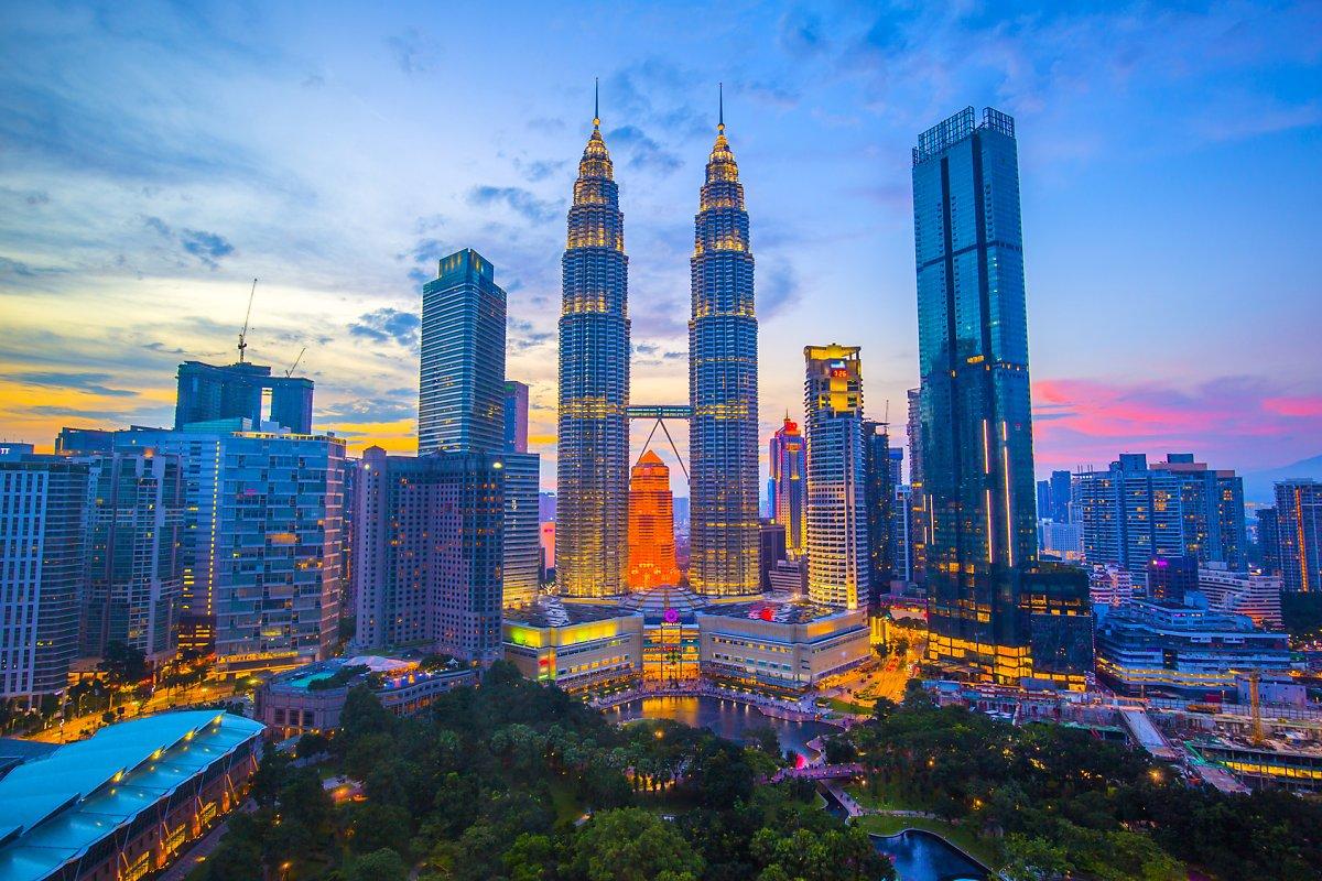 Hình ảnh tòa tháp đôi Petronas - Malaysia