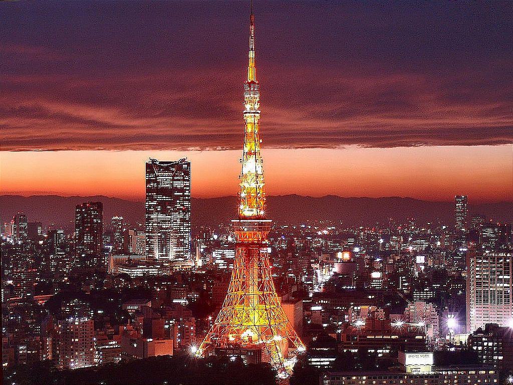 Ảnh ánh sáng rực rỡ của tháp Tokyo