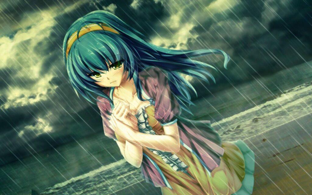 Ảnh anime đẹp, buồn ngày mưa