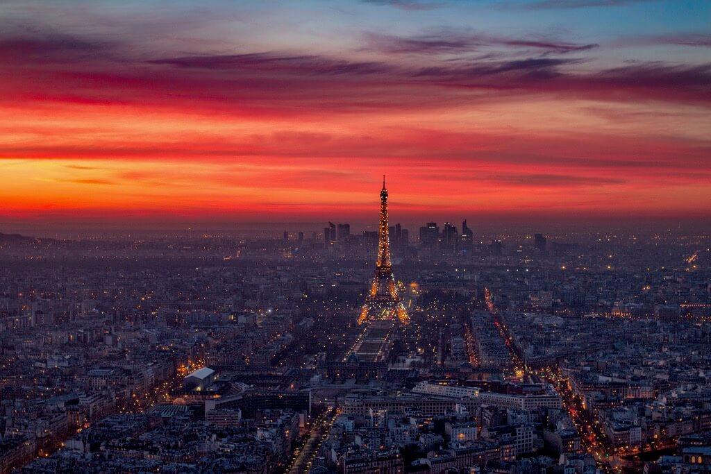 Ảnh bầu trời hoàng hôn ở Paris