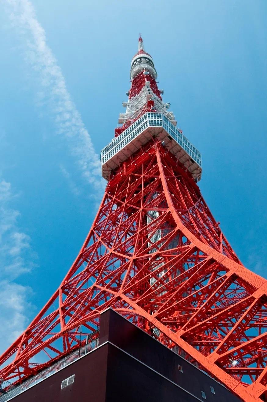 Ảnh cận cảnh tháp Tokyo