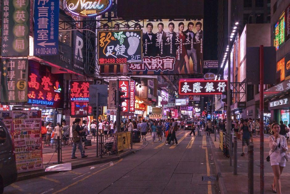 Ảnh chợ đêm phố Temple - HongKong
