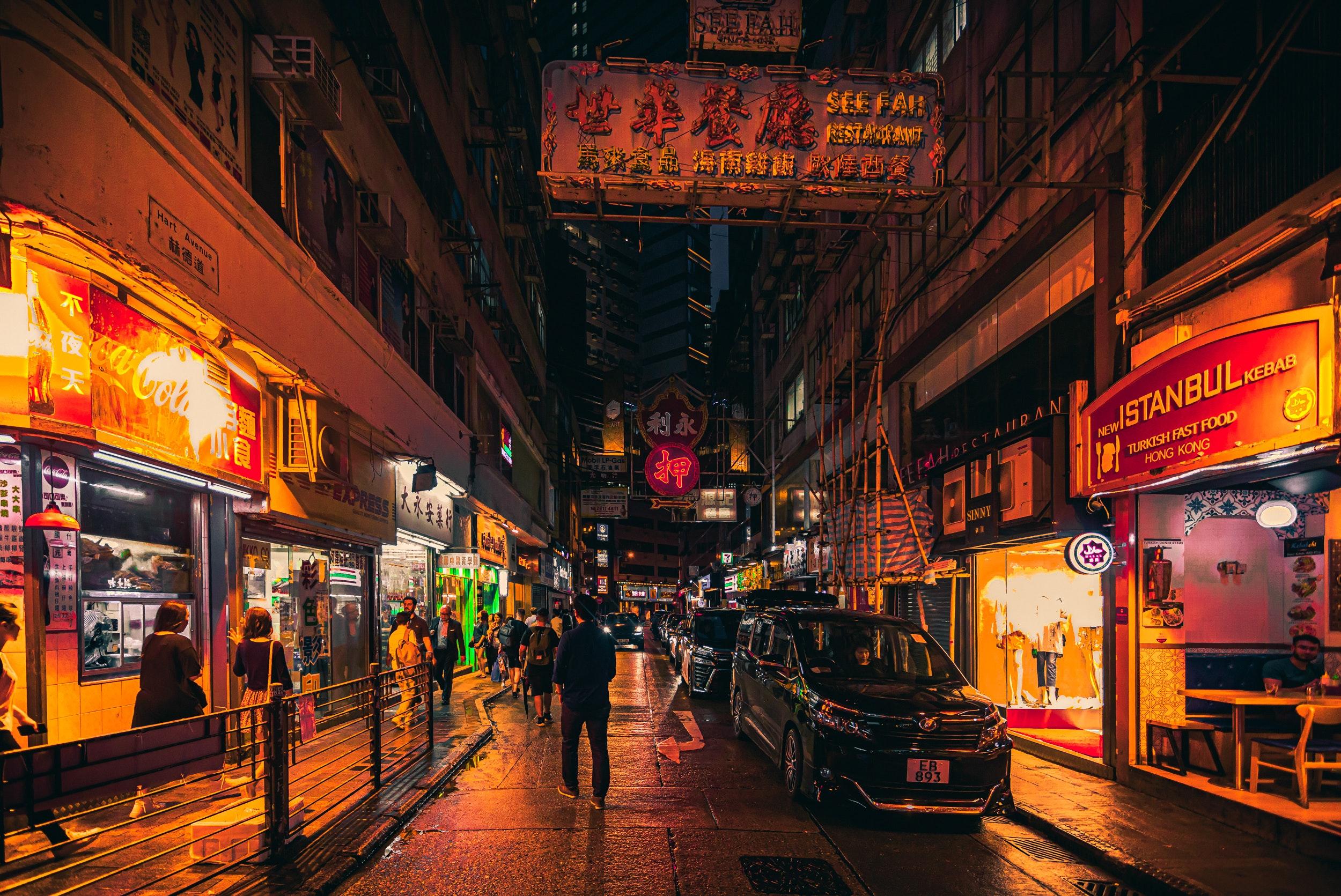 Ảnh đường phố về đêm tại Hồng Kông đẹp nhất