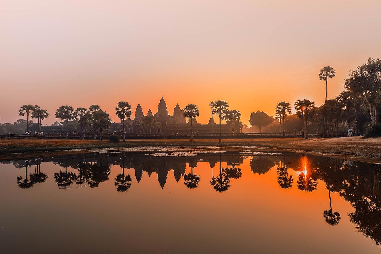 Ảnh hoàng hôn ở Srah Srang - Siem Reap
