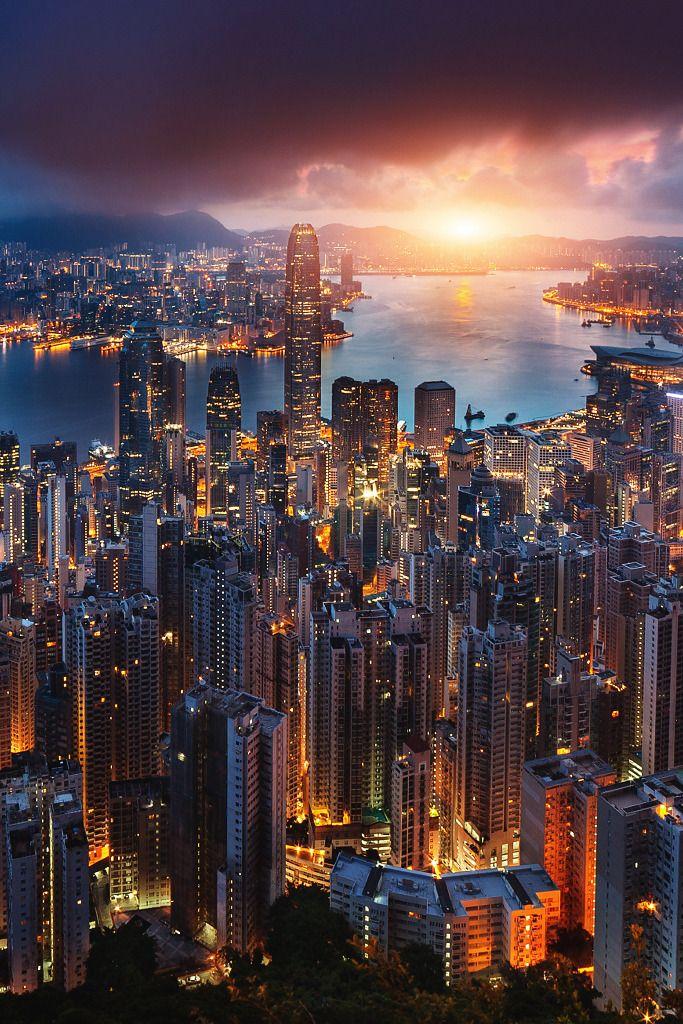Ảnh Hong Kong sớm mờ sương