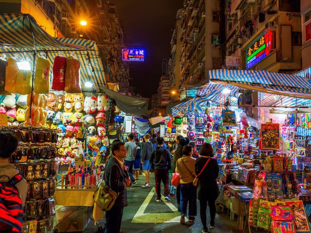 Ảnh khu chợ độc đáo ở Hong Kong