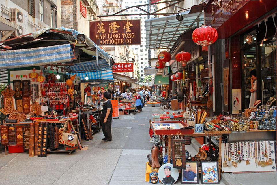 Ảnh khu chợ đường phố nổi tiếng ở Hong Kong