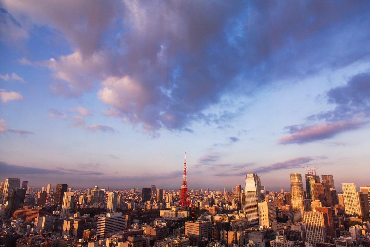 Ảnh mặt trời mọc trên đỉnh tháp Tokyo