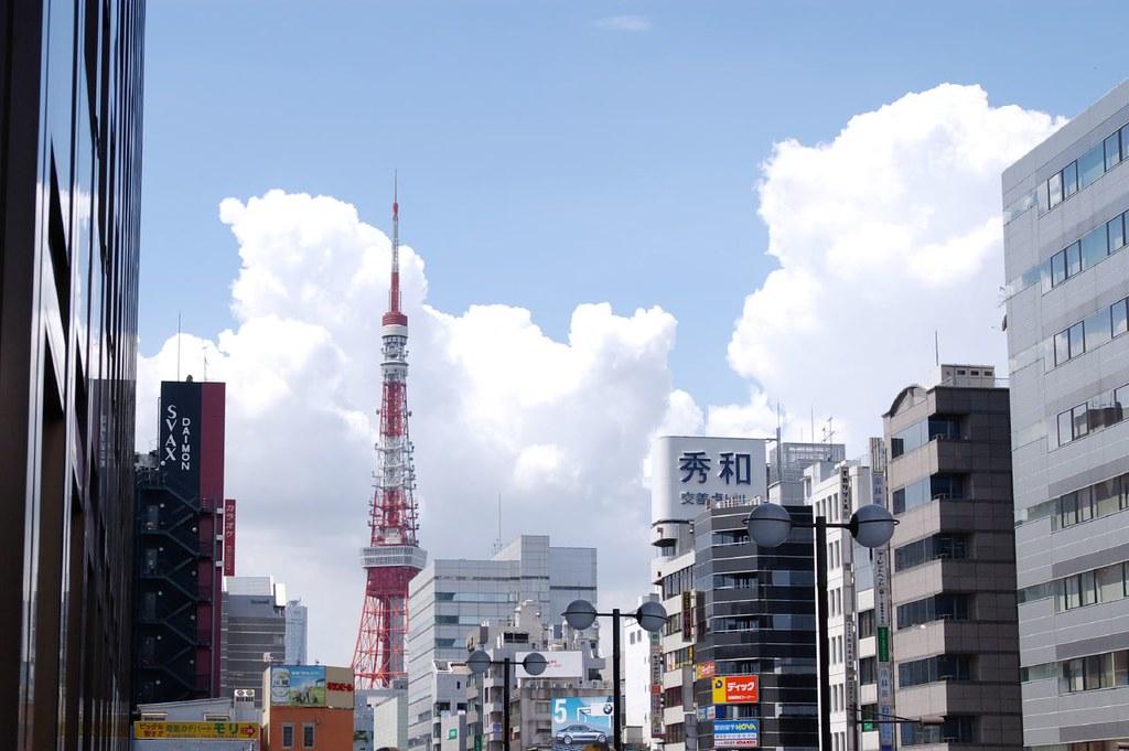 Ảnh một góc của tháp Tokyo