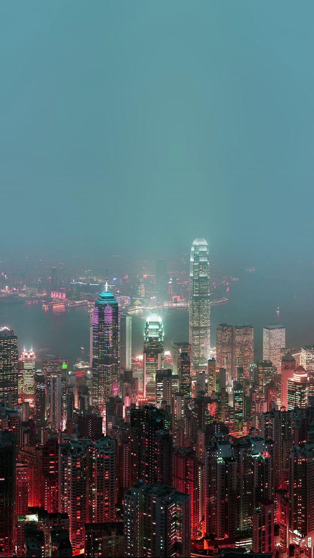 Ảnh nền Hồng Kông về đêm cho điện thoại