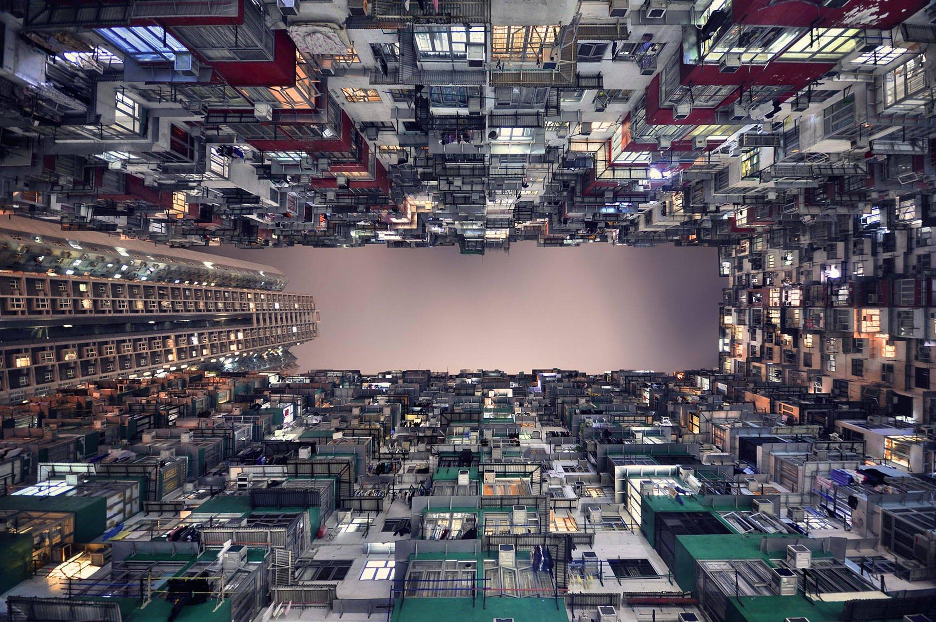 Ảnh những tòa nhà Hồng Kông từ góc nhìn mới lạ