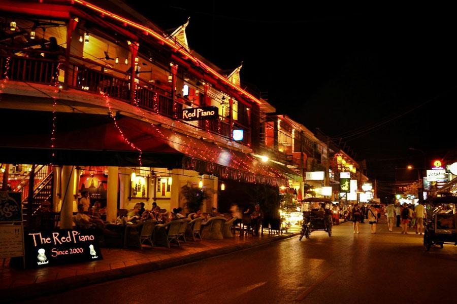 Ảnh Phố Tây Siem Reap buổi tối