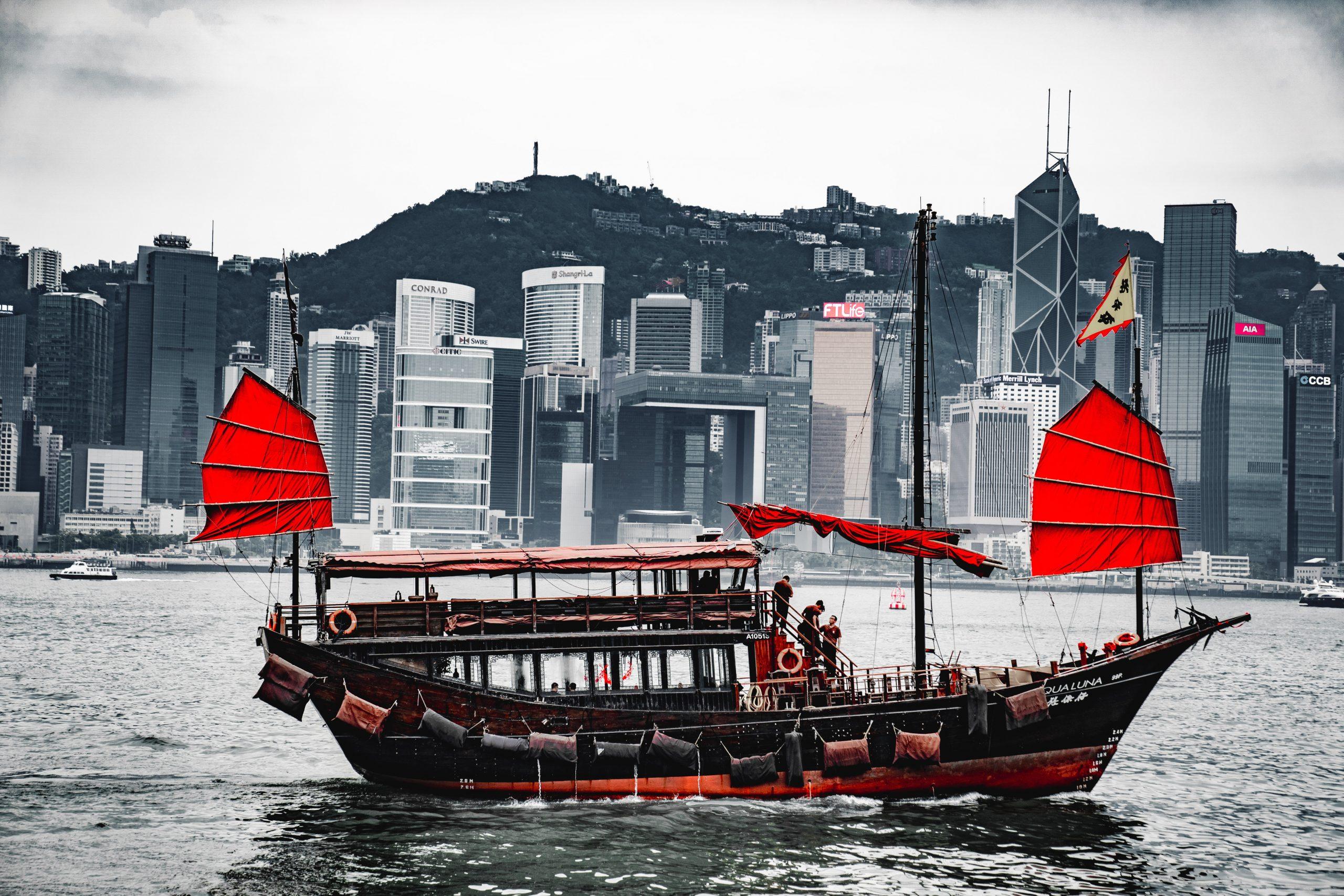 Ảnh tàu thuyền tại Hồng Kông