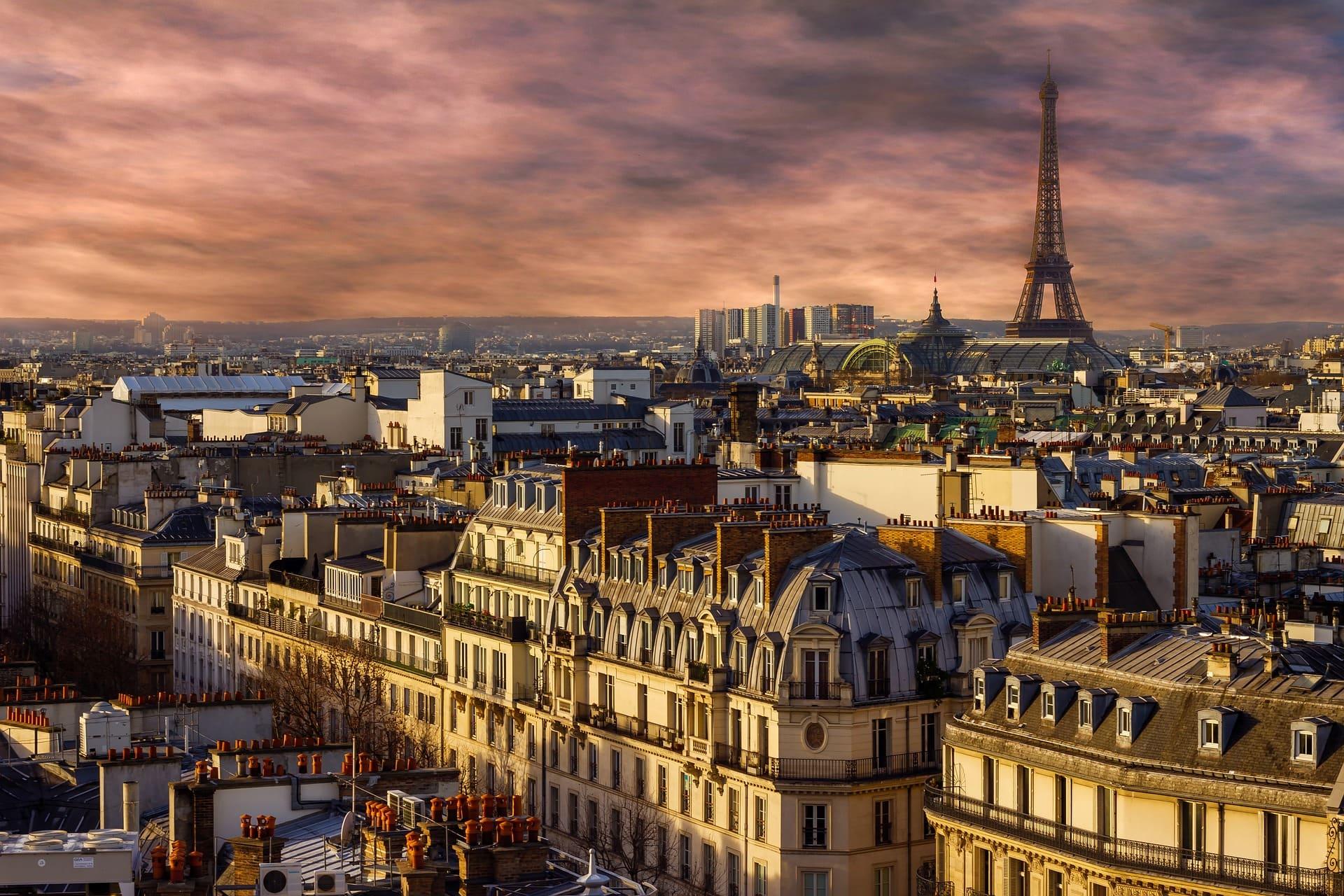 Ảnh tháp Eiffel chiều chạng vạng đẹp nhất