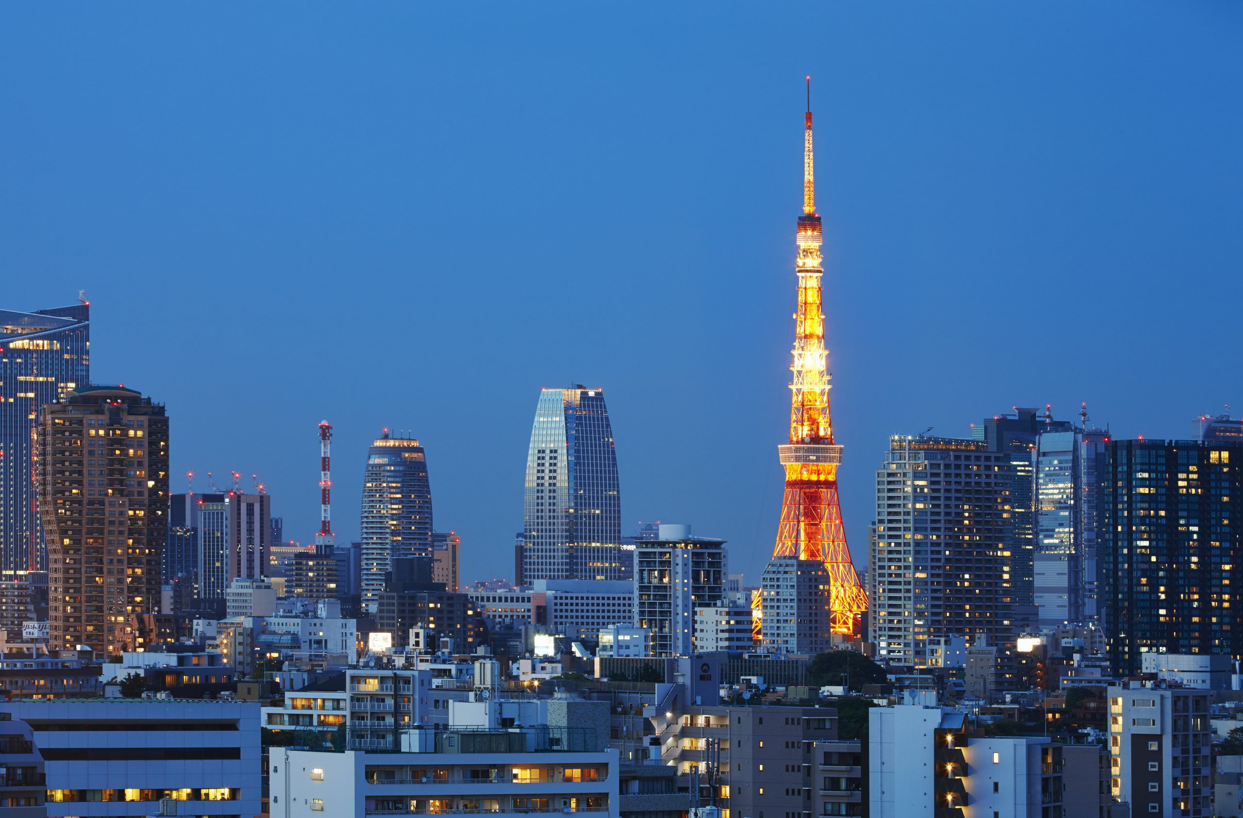 Ảnh tháp Tokyo - biểu tượng của Tokyo sau thế chiến II