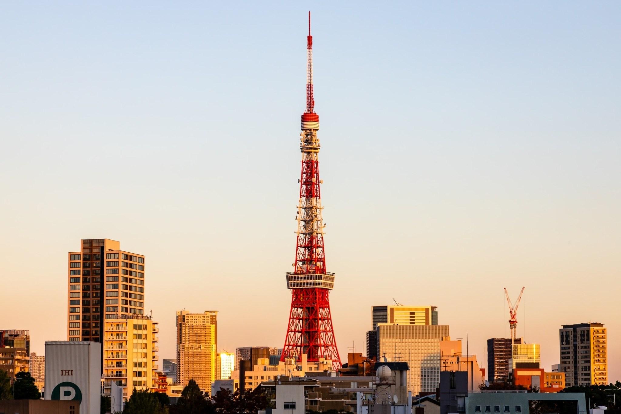 Ảnh tháp Tokyo phiên bản mùa hè