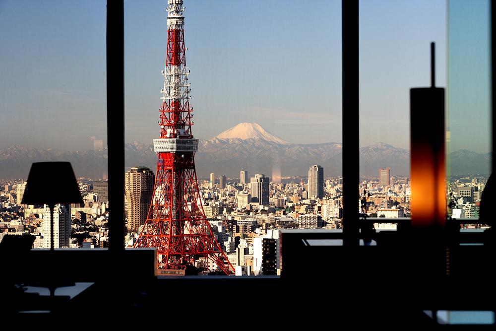 Ảnh tháp Tokyo view từ khách sạn trung tâm Tokyo