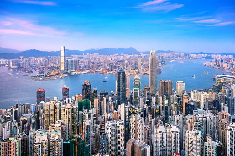 Ảnh toàn cảnh Hồng Kông nhìn từ trên cao