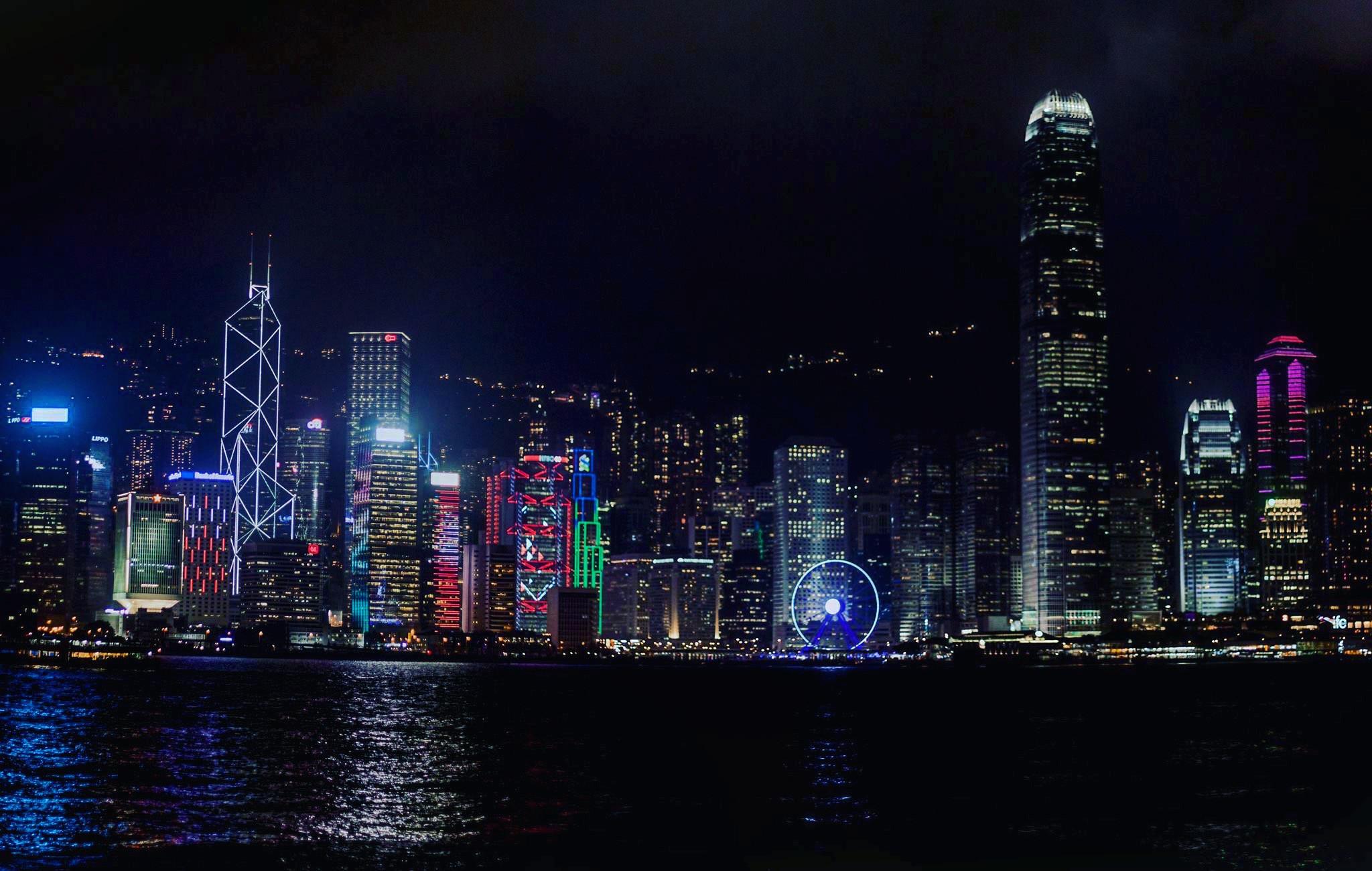 Ảnh vịnh Victoria - Bến cảng sầm uất nhất Hồng Kông