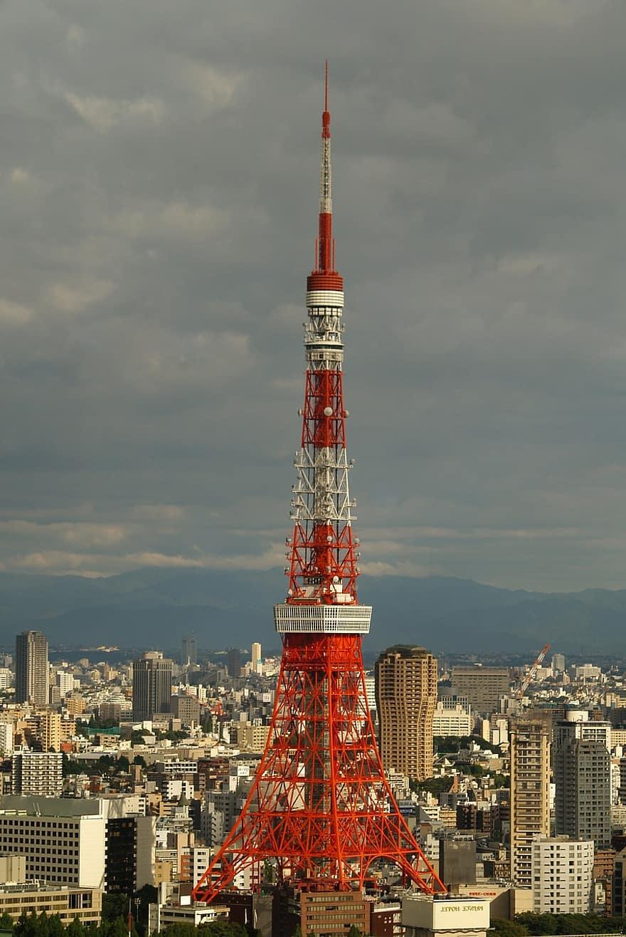 Cận cảnh tháp Tokyo, Nhật Bản
