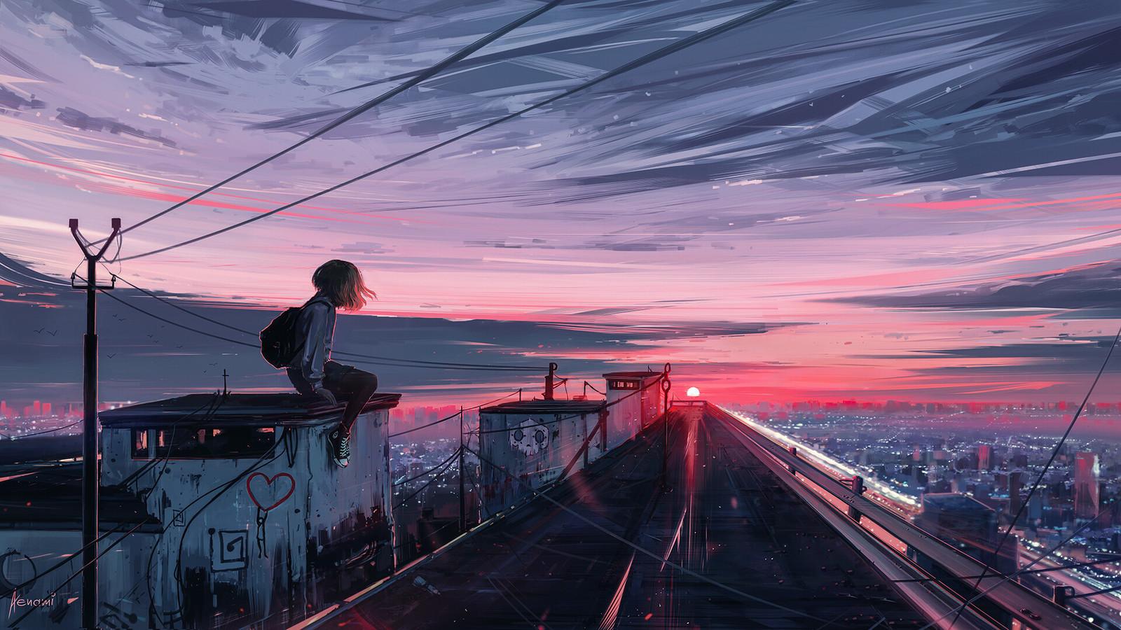 Hình ảnh anime buồn cực đẹp