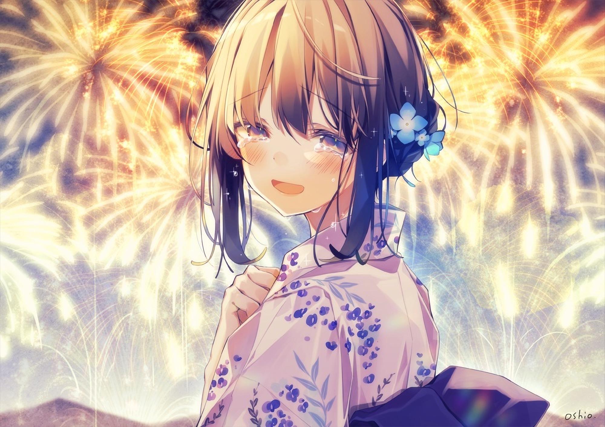 Hình ảnh anime buồn khóc cô đơn