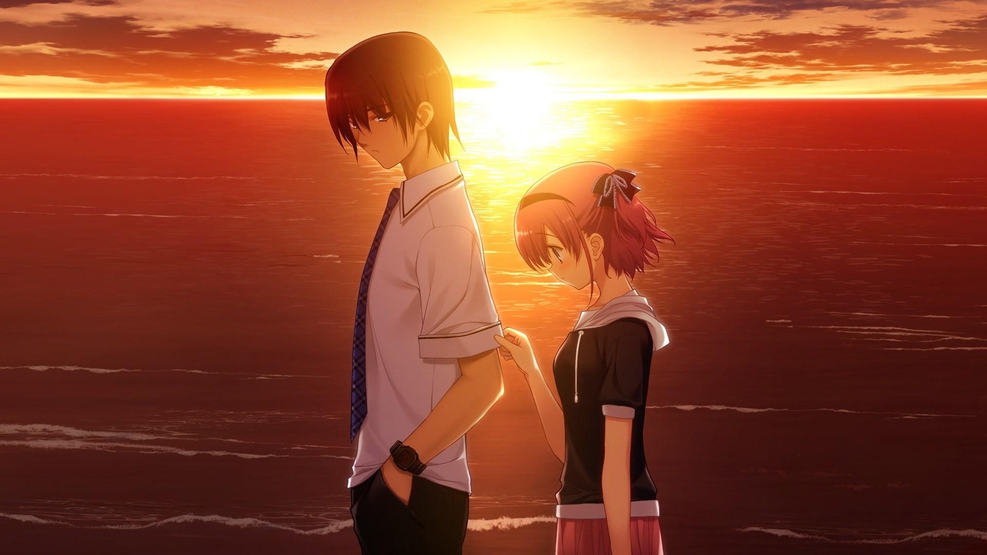 Hình ảnh anime về tình yêu buồn, cô đơn