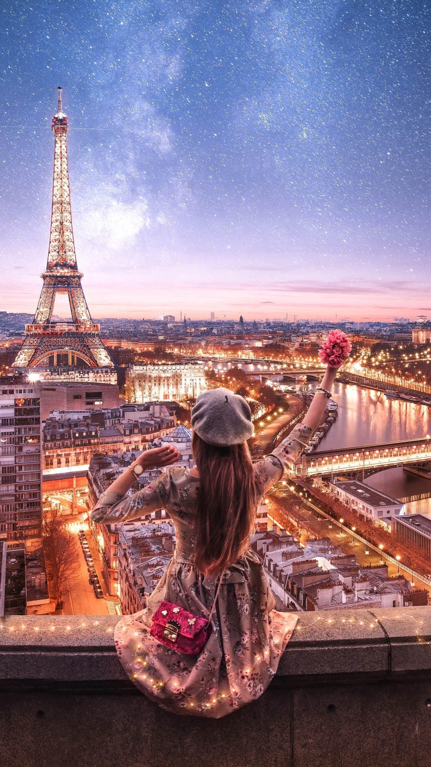Hình ảnh check on mơ màng như công chúa quanh tháp Eiffel