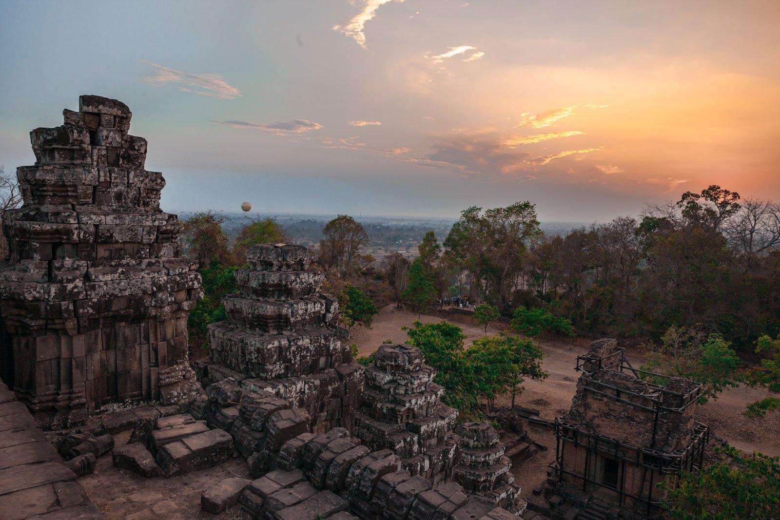 Hình ảnh cuối ngày tại Siem Reap cực đẹp