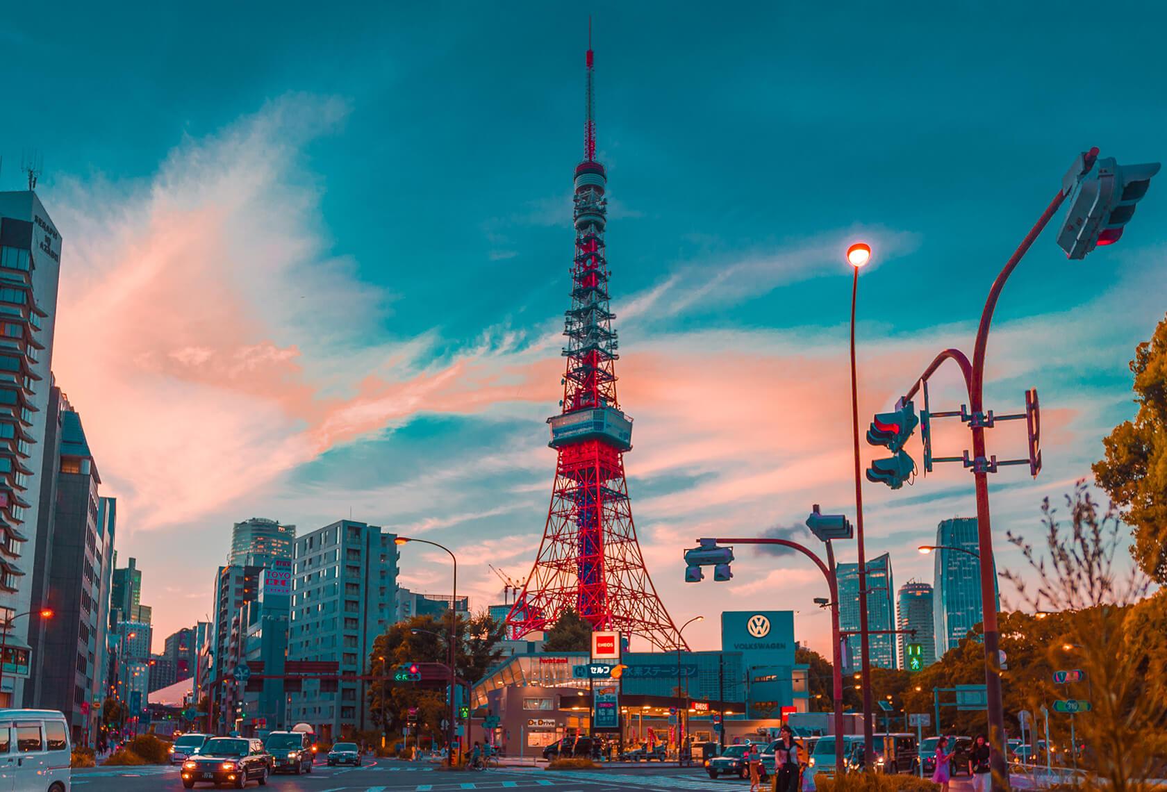 Hình ảnh đẹp về tháp Tokyo