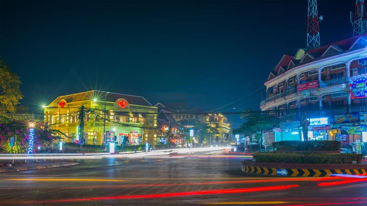 Hình ảnh đường phố tại Siem Reap về đêm