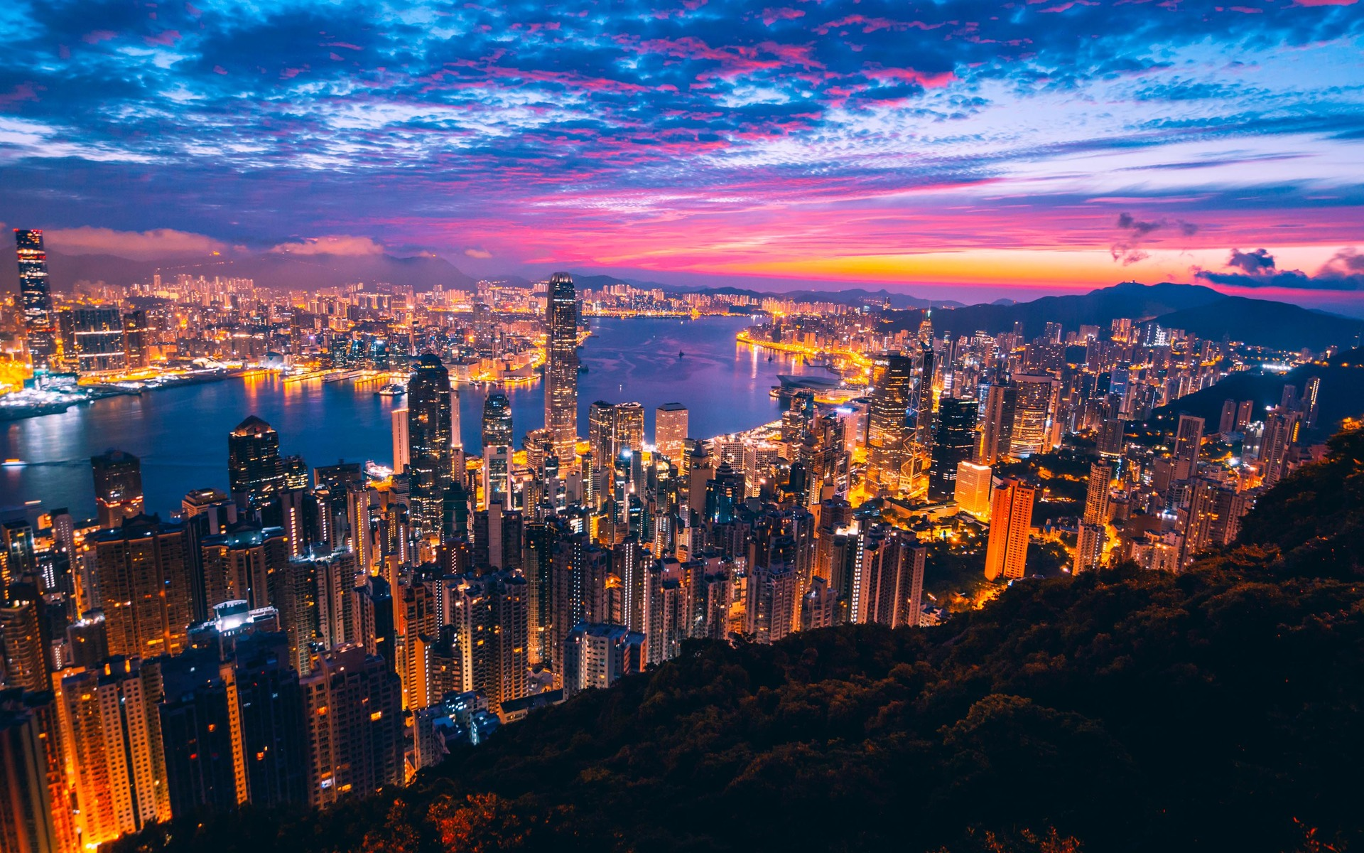Hình ảnh Hồng Kông chiều chạng vạng đẹp nhất