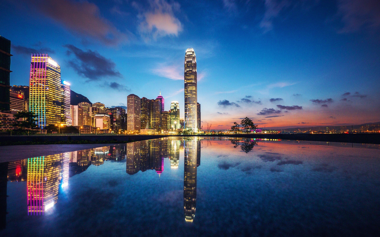 Hình ảnh một góc Hồng Kông xa hoa tráng lệ