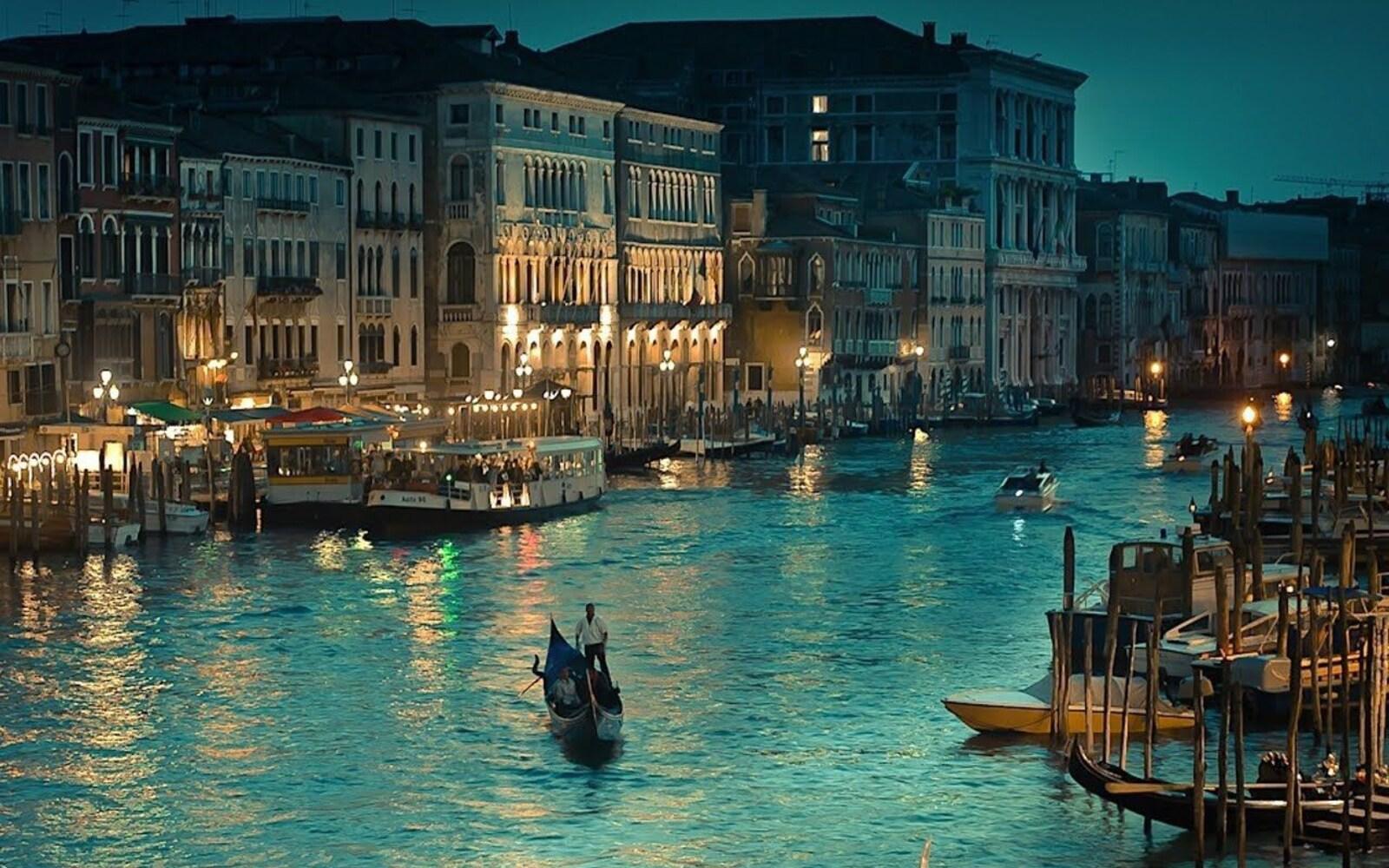 Hình ảnh thành phố Venice về đêm đẹp nhất