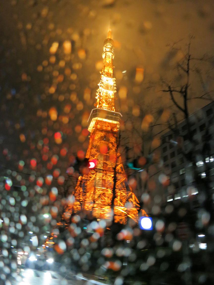 Hình ảnh tháp Tokyo lên đèn