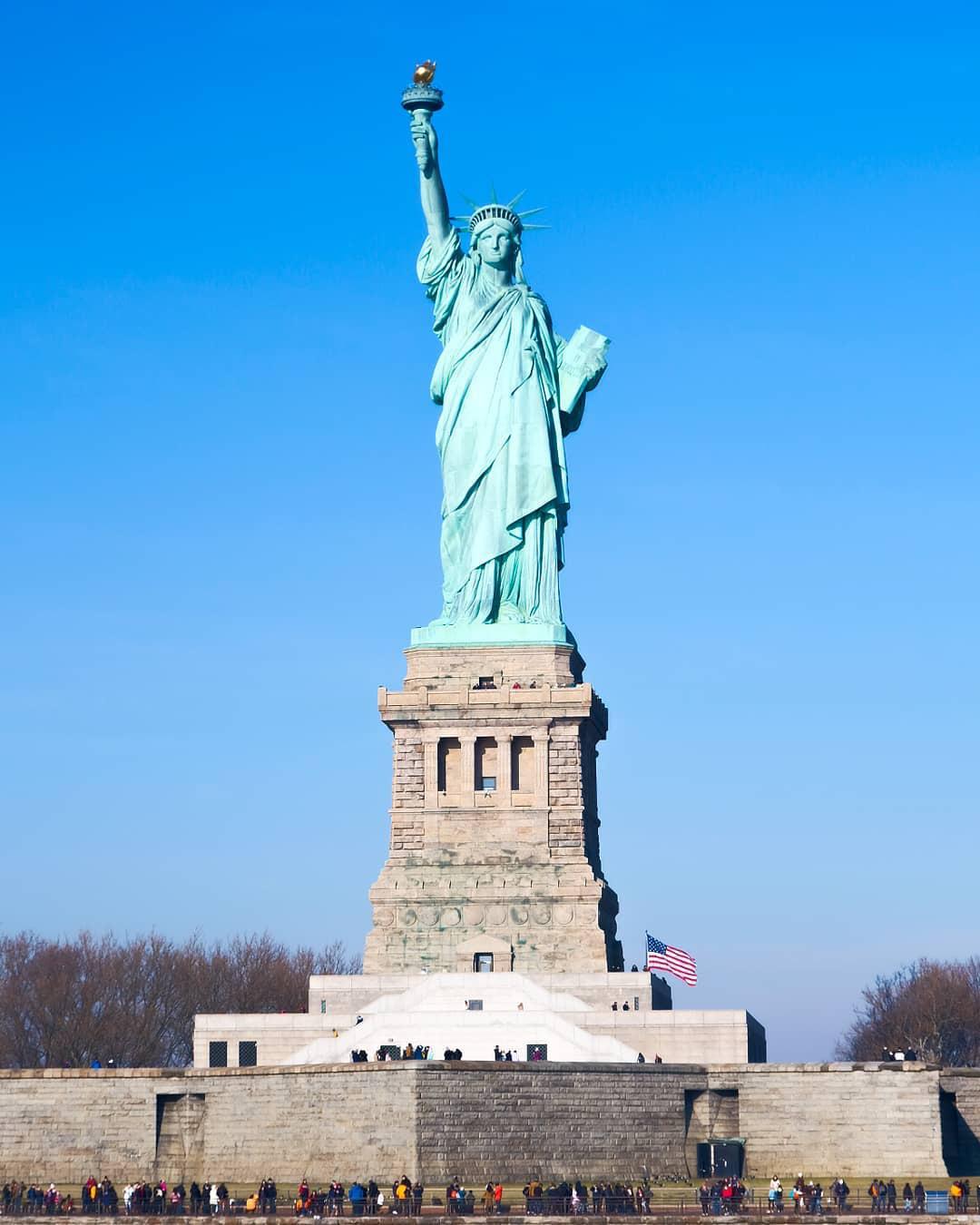 Hình ảnh tượng nữ thần tự do tuyệt đẹp ở Mỹ