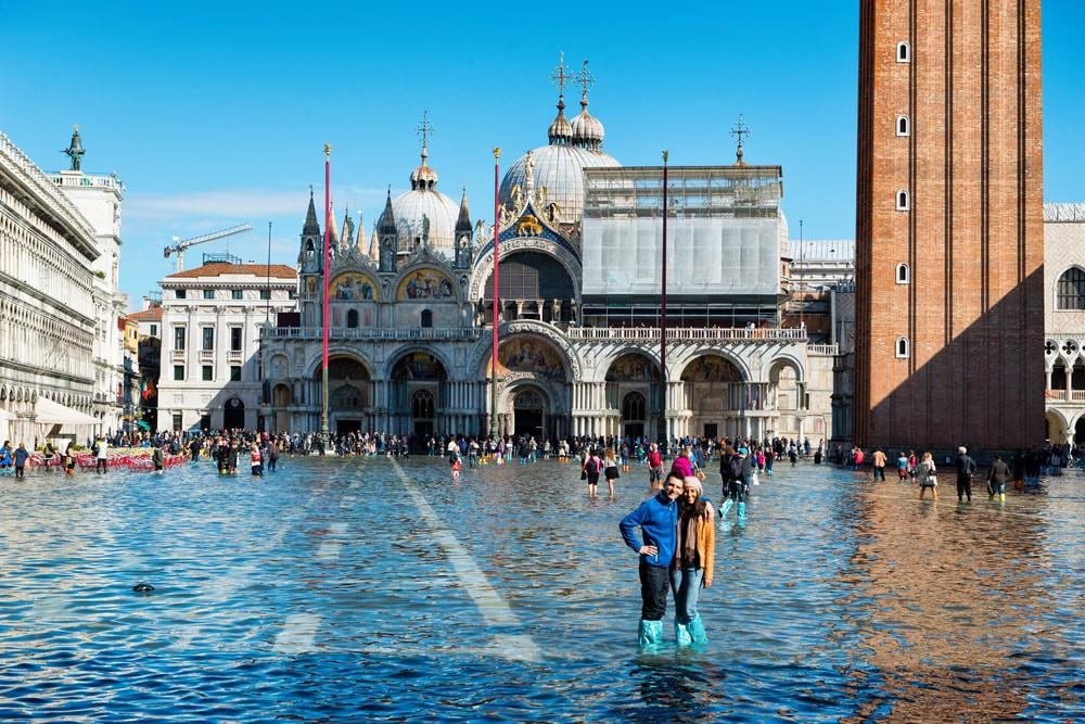 Hình ảnh Venice mùa nước nổi