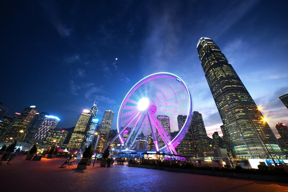 Hình ảnh vòng quay mặt trời ở Hồng Kông