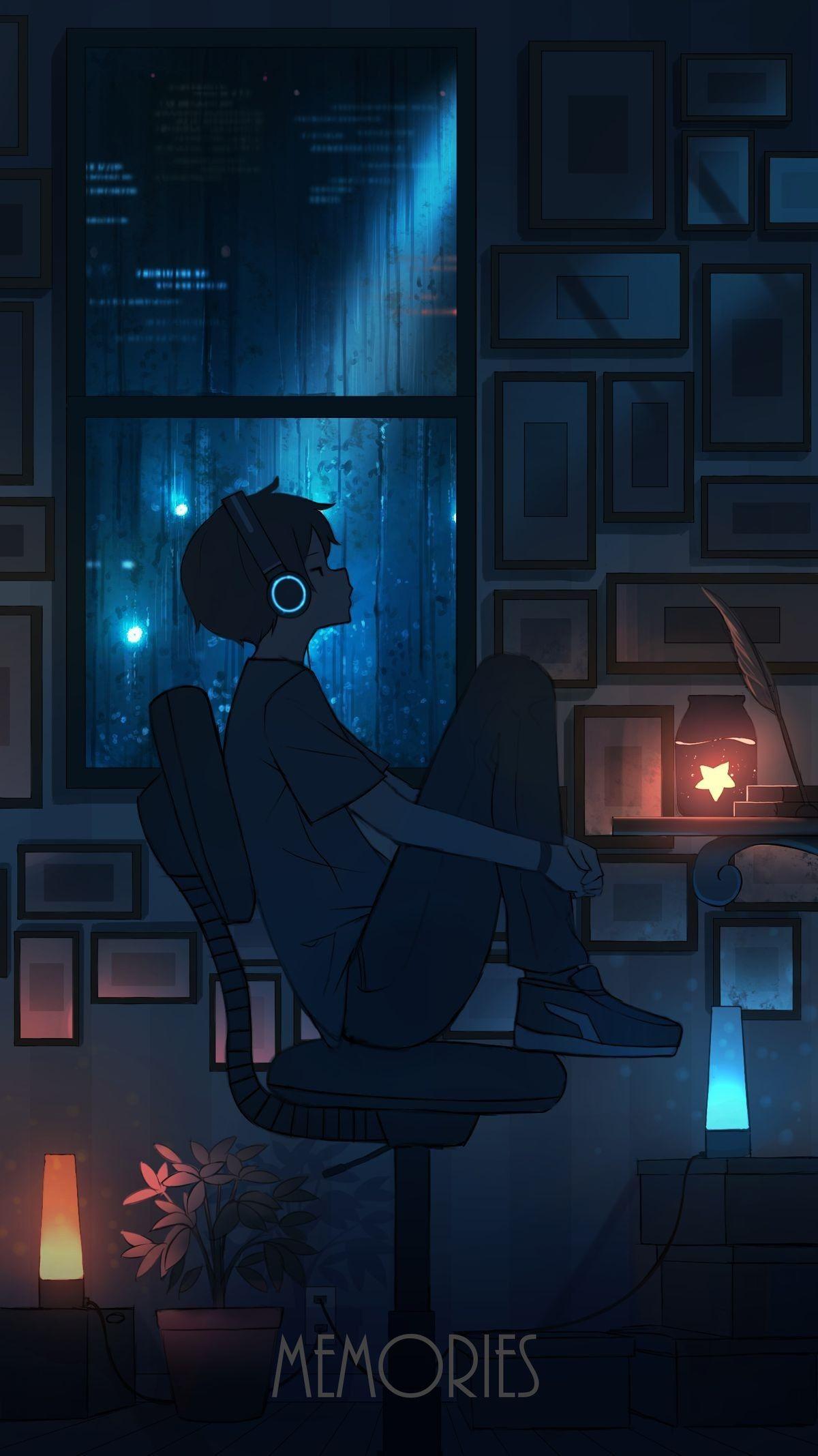 Hình anime boy lạnh lùng, buồn đẹp